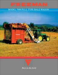 model 7000 pull type bale wagon - Allied Systems Company