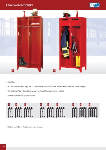 Feuerwehrschränke - Alpinservice