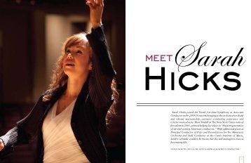 Meet Sarah Hicks - North Carolina Symphony