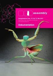 Designfestival Graz, 10. bis 13. Mai 2012 - Assembly