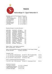 1932/33 Nationalliga A / Ligue Nationale A: - Super Servette