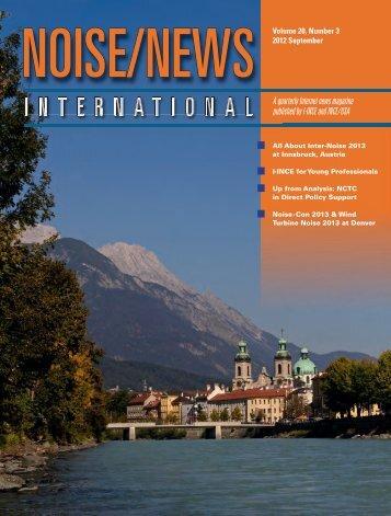 Volume 20, Number 3, September, 2012 - Noise News International