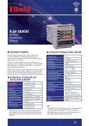 E-58 Serisi Sayısal Kontrol Cihazı - Elimko