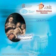 Flyer Geburtshilfe - Kreiskrankenhaus Demmin
