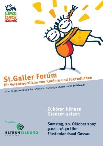 St.Galler Forum für Verantwortliche von Kindern und Jugendlichen ...