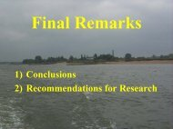 1) Conclusions 2) Recommendations for Research - PIANC USA