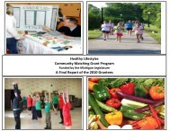 A Final Report of the - Michigan Center for Rural Health