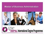 Master of Business Administration (Marketing)