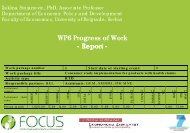 WP 6 - Focus-Balkans