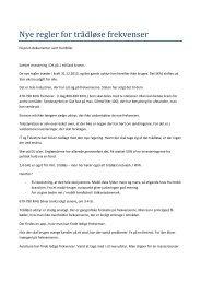 Referat Nye regler for trådløse frekvenser - Dansk Live