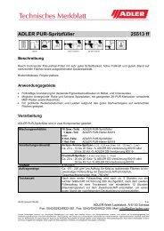 ADLER PUR-Spritzfüller - MAUTNER Alles Farbe