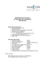 Datasheet: MACCON A380 Door Actuator - MACCON GmbH