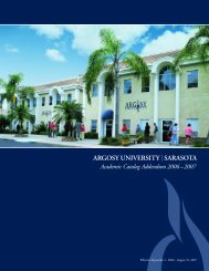 Argosy University - Academic Catalog Addendum 2006-2007