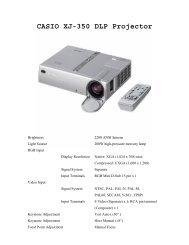 CASIO XJ-350 DLP Projector - Network Spectrum, Inc.