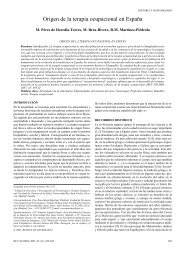 Origen de la terapia ocupacional en España