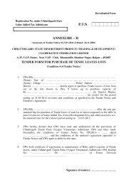 ptn annexure – ii - Chhattisgarh Minor Forest Produce Co-Operative ...