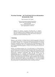 Precision Farming – ein Zwischenbericht aus informations ... - Die GIL