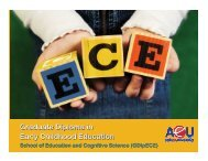 Graduate Diploma in Early Childhood Education - Knowledge ...