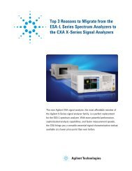 Top 3 Reasons to Migrate from the ESA-L Series Spectrum ... - Newark
