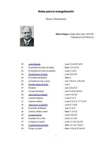 Notas para la evangelización Nuevo Testamento - Tesoro Digital