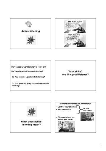 active listening in counselling pdf