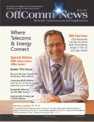 OffComm News 2 - O3b Networks