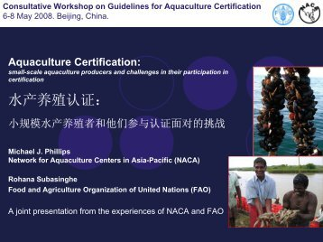 Consultative Workshop on Guidelines for Aquaculture ... - Library
