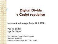 Digital Divide v České republice - Cz.NIC