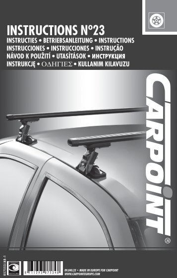 09.840.23 • MADE IN EUROPE FOR CARPOINT WWW ... - Winparts.nl