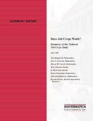 Does Job Corps Work? - Mathematica Policy Research
