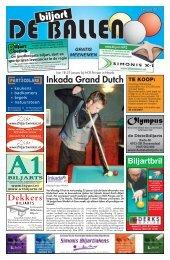 Inkada Grand Dutch 2011 - De Biljart Ballen