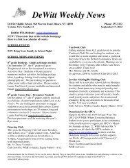 DeWitt Weekly News - DeWitt Middle School PTA