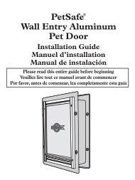 PetSafe® Wall Entry Aluminum Pet Door