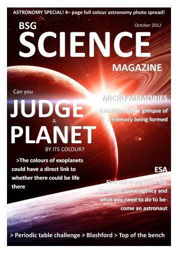 Science Newsletter #13 - Bournemouth School for Girls