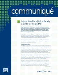 Interactive Data Helps Ready Clients for Reg NMS