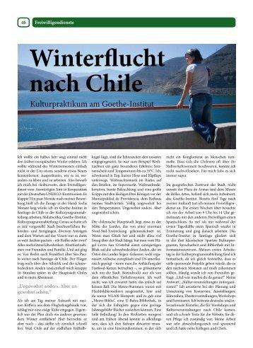 Kulturpraktikum am Goethe-Institut - Kulturweit