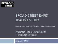 broad street rapid transit study - Commonwealth Transportation Board