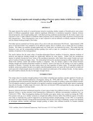 Mechanical properties and strength grading of Norway spruce ...