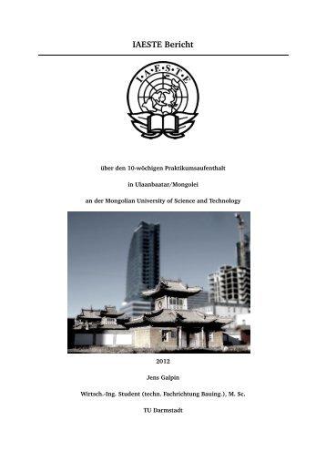 IAESTE Bericht Mongolei - IAESTE Darmstadt
