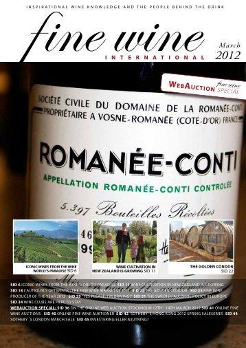 WEBAUCTION special - Fine wine magazine