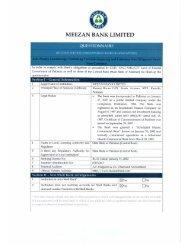 AML/KYC Questionnaire for Correspondent Banks - Meezan Bank