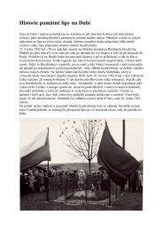 Historie památné lípy na Dubí - Info Blovice
