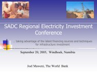 SADC Regional Electricity Investment Conference