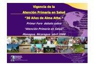 Vigencia de la Atención Primaria en Salud - CISAS   Centro de ...