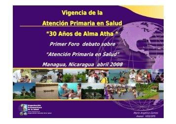 Vigencia de la Atención Primaria en Salud - CISAS | Centro de ...