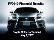 [PDF] FY2012 Financial Results - Toyota