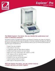 Explorer® Pro Electronic Balances - MaRCo