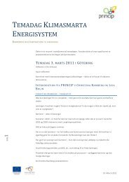 TEMADAG KLIMASMARTA ENERGISYSTEM - Energi PRINCIPS