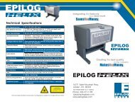 Epilog Helix Technical Specifications