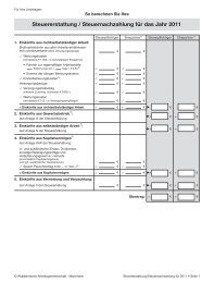 Steuererstattung / Steuernachzahlung für das Jahr 2011
